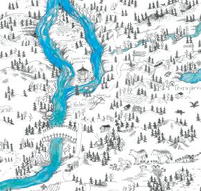 Elsa-Maria Kaulasen Kolarin kartta, kohdistettu Kolari