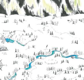 Elsa-Maria Kaulasen Kolarin kartta, kohdistettu Hannukainen