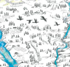 Elsa-Maria Kaulasen Kolarin kartta, kohdistettu Koivumaa