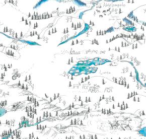 Elsa-Maria Kaulasen Kolarin kartta, kohdistettu Luosu
