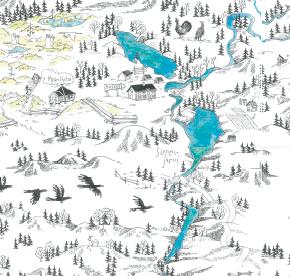 Elsa-Maria Kaulasen Kolarin kartta, kohdistettu Sieppijärvi