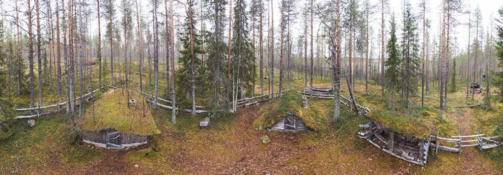 Erakko Heikkisen kämppä, panoramakuva alueesta.