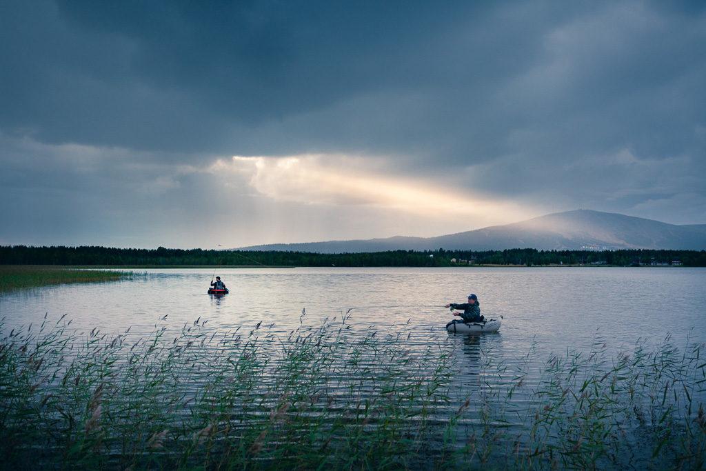 Ylläsjärvi kalastusta